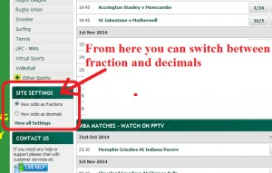 Paddy Power: How to change odds from fractions to decimals