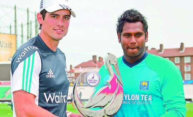 Alastair Cook Angelo Mathews ODI Series 2014