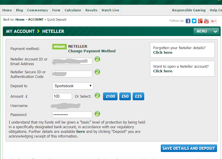 Paddy Power Deposit via NETELLER