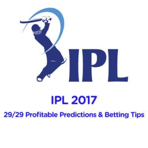 IPL 2017: Half Way Report: 29/29 Profitable Predictions from Trading